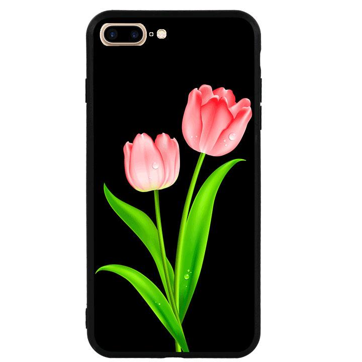 Ốp lưng viền TPU cao cấp cho Iphone 7 Plus - Hoa Tulip 01
