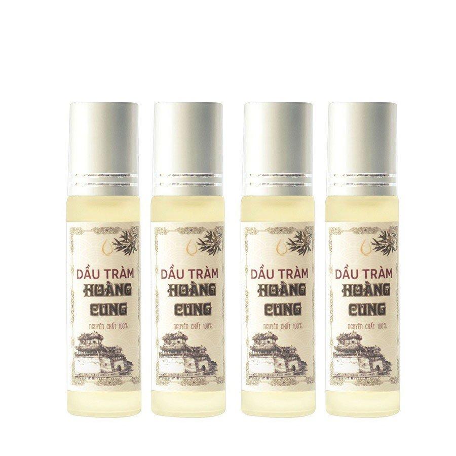 Bộ 4 chai tinh dầu tràm Huế - dầu tràm Hoàng Cung 10ml (chai lăn)