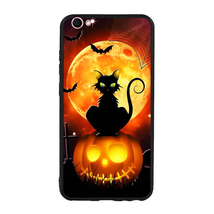 Ốp lưng Halloween viền TPU cho điện thoại Vivo V5s - Mẫu 05