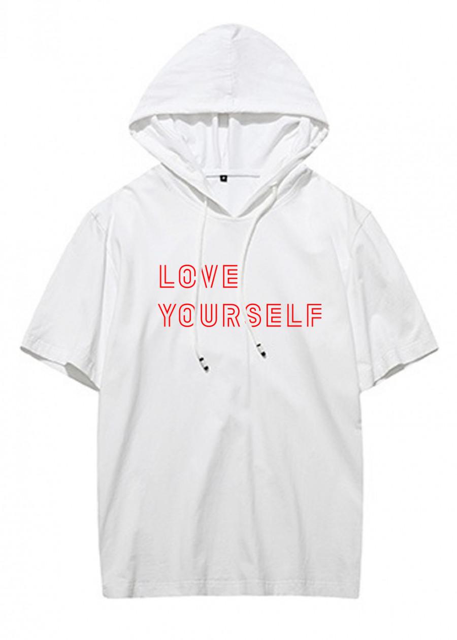 Áo Thun Tay Lỡ Có Mũ BTS Love Yoursel Mới