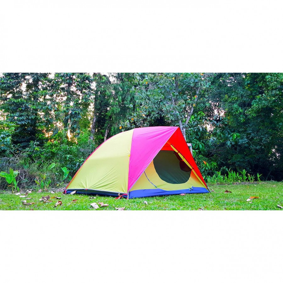 Lều cắm trại 04 người backcountry - Vàng phối hồng