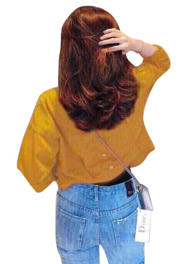 áo khoác nữ cao cấp màu vàng