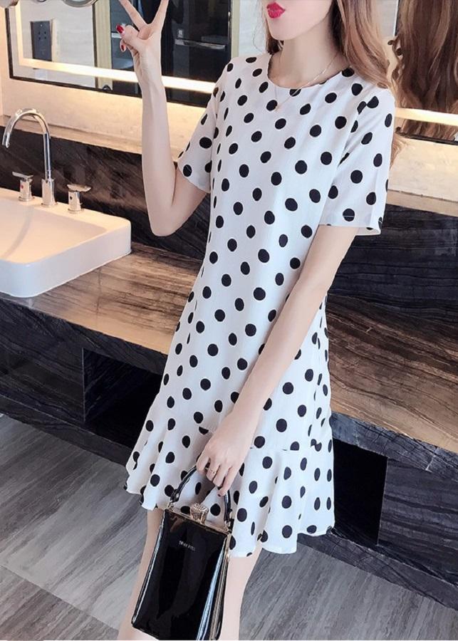 Đầm Nữ Suông Bèo Chấm Bi DRESS54N