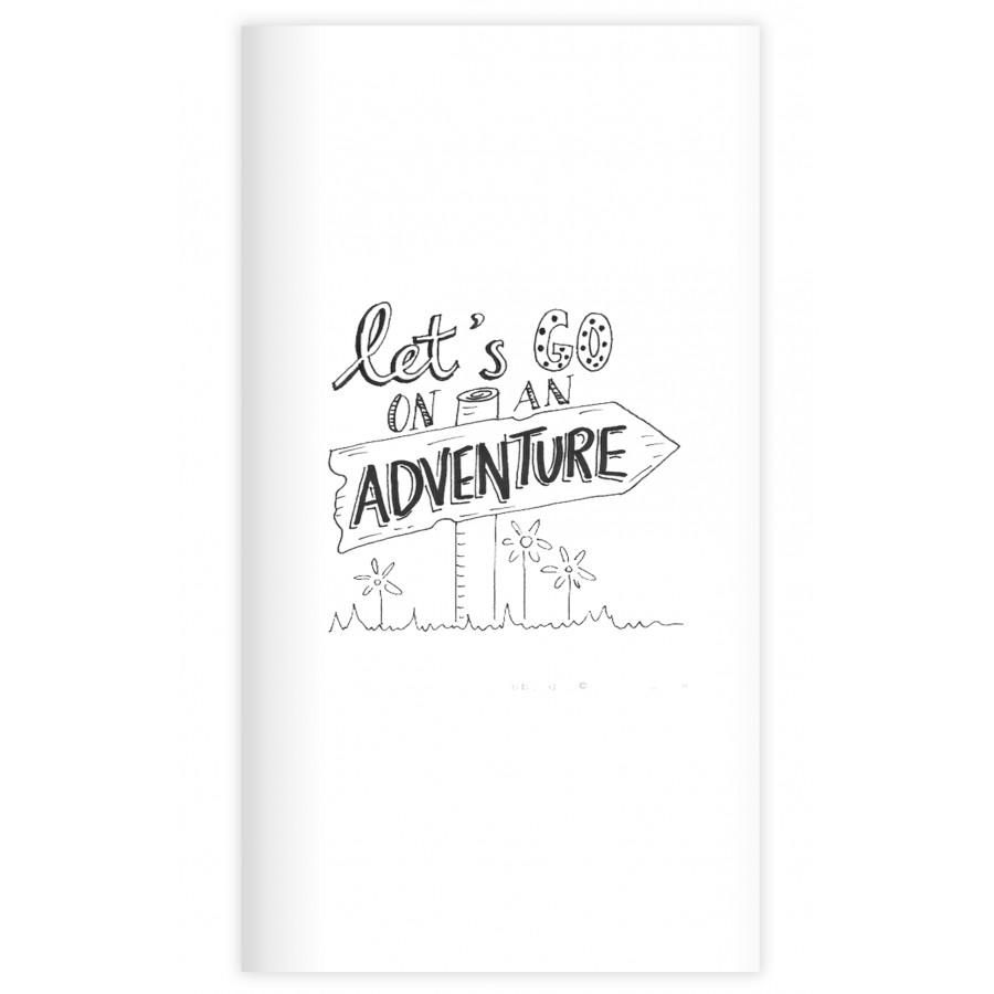 Sổ tay planner  Bìa phiêu lưu  kích thước 21x11 60 trang bìa cứng in hình bullet journal, nhật ký, todo list, checklist