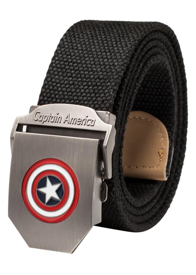 Thắt Lưng Vải Dù Nữ Mặt Khoá Hợp Kim Mặt Captain America - Màu 2