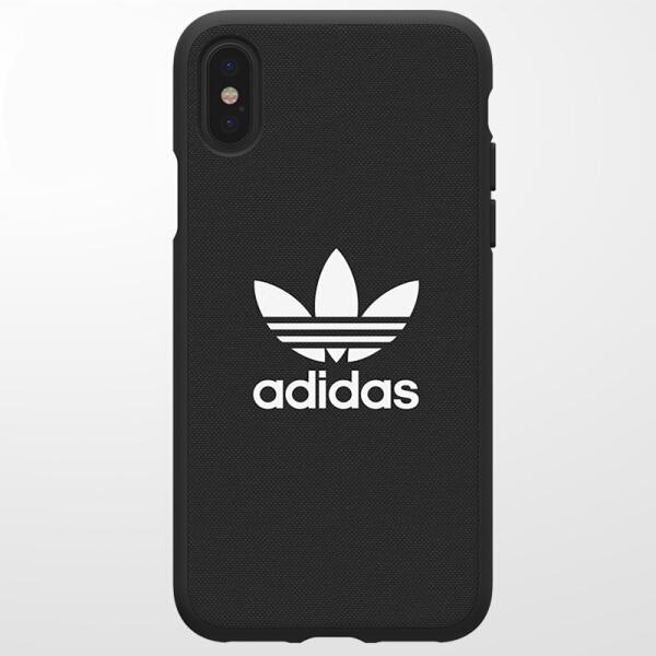 Ốp Lưng Nhựa Dẻo Dành Cho iPhone X Adidas - Đen