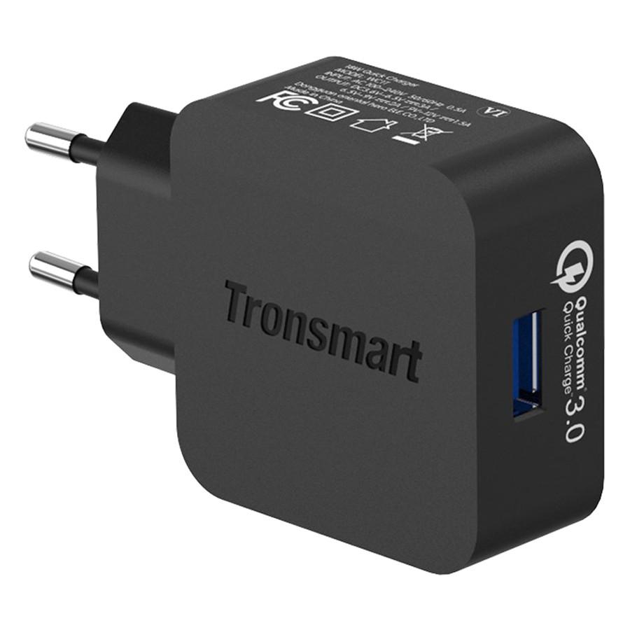 Bộ Cáp Sạc USB Type-C 1.8m Và Adapter Sạc Tronsmart 18W 1 Cổng QC 3.0 WC1T - Hàng Chính Hãng