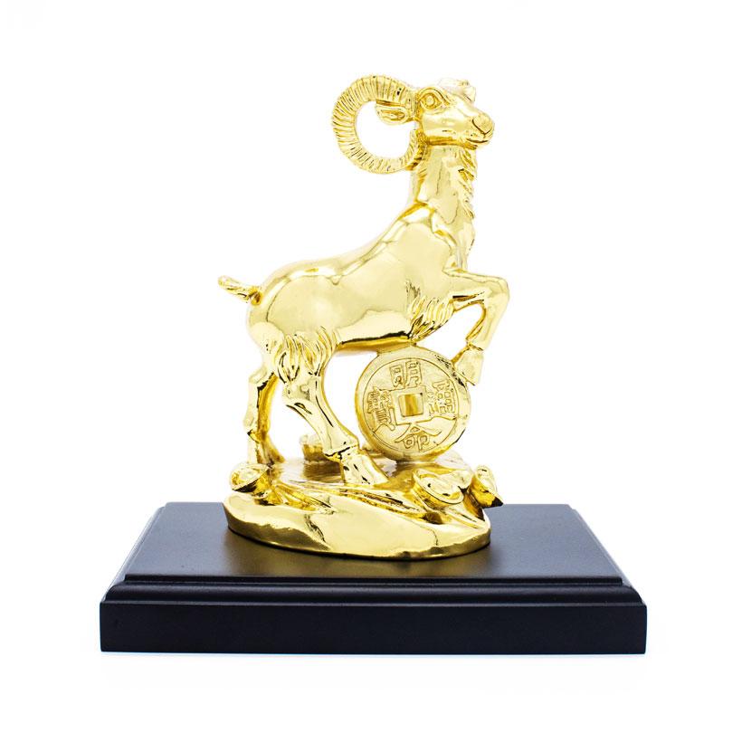 Tượng Dê thịnh vượng mạ vàng 24K - Quà tặng cao cấp cho Sếp nam