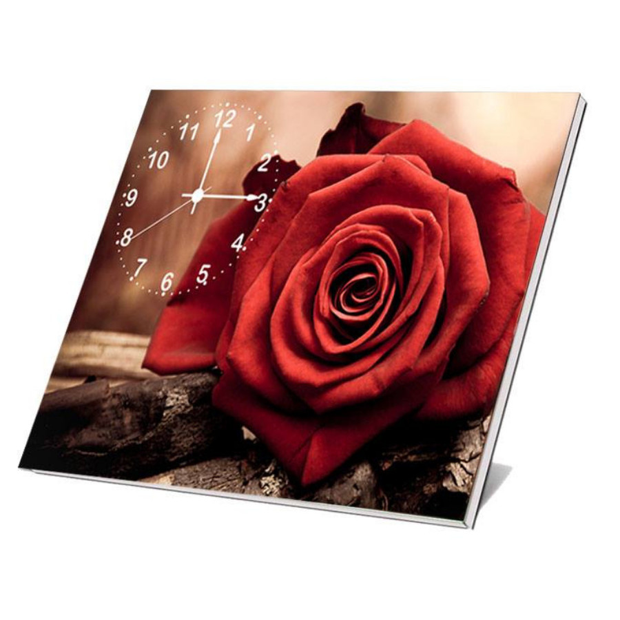 Tranh đồng hồ phong cảnh tự nhiên để bàn DB0193 - Đồng hồ Tranh hoa hồng
