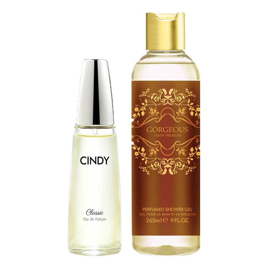 Bộ nước hoa Cindy Classic 50ml và Sữa tắm Cindy Premium Gorgeous 265ml