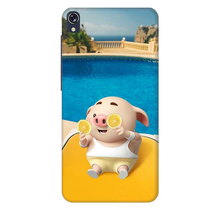 Ốp lưng nhựa cứng nhám dành cho Asus Zenfone Live ZB501KL in hình Heo Tắm Bể Bơi
