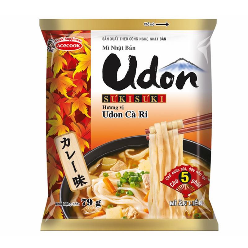 Mì Gói Udon Sưki Sưki Hương Vị Cà Ri Acecook (75g)