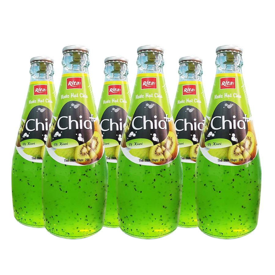 Nước Ép Trái Cây Hạt Chia Chia+ Hương Kiwi (290ml x 6)