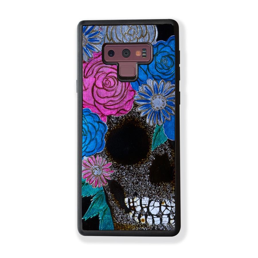 Ốp Lưng Điện Thoại Sơn Mài Skull With Floral Hair Dành Cho Samsung Galaxy Note 9 La Sonmai