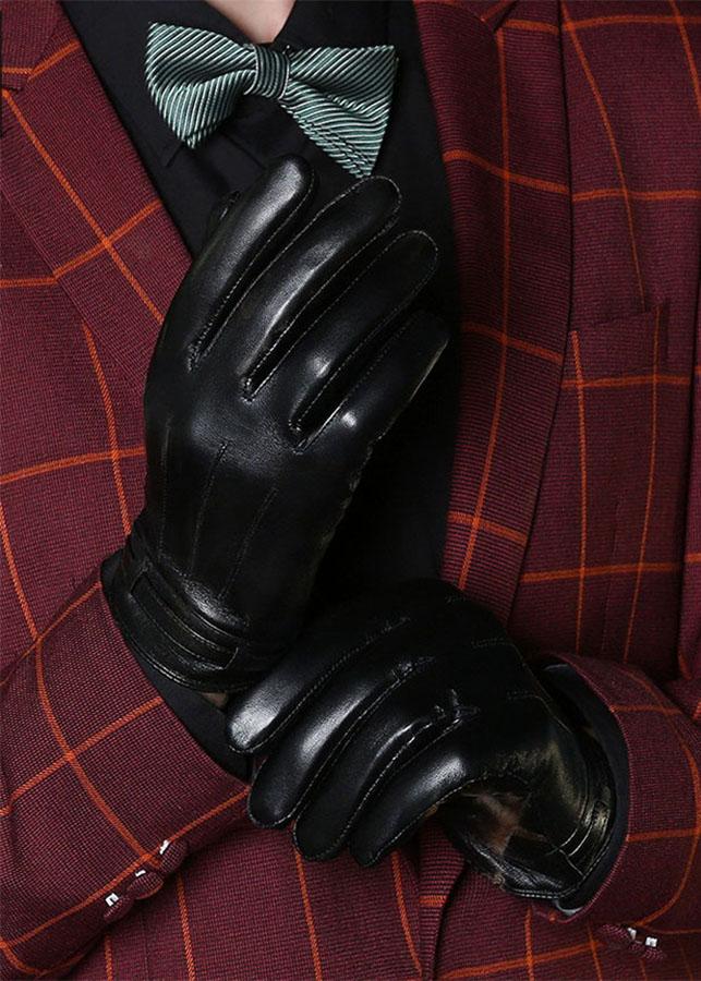 Găng tay da cừu nam phong cách BH6536