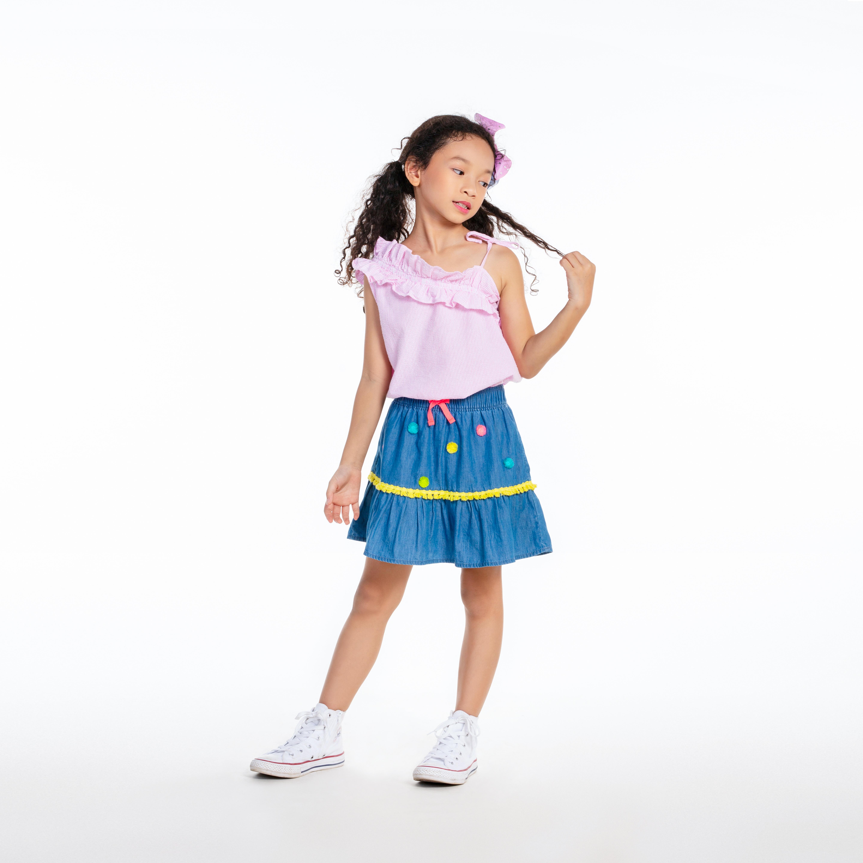 3907236827623 - Chân váy bé gái-Pompom Embroidery-CGSUM19K16Z