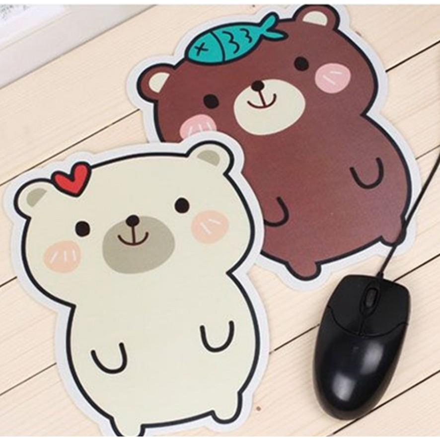 Combo 2 Bàn di chuột hình gấu