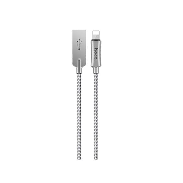 Cáp sạc iPhone HoCo U10 cổng Lightning (Bạc)