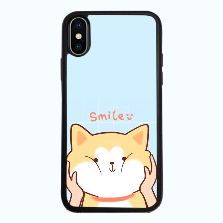 Ốp Lưng Kính Cường Lực Dành Cho Điện Thoại iPhone X Smile