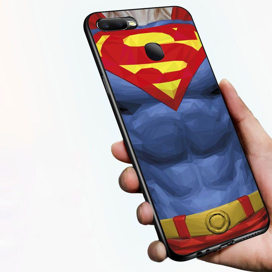 Ốp kính cường lực dành cho điện thoại Oppo F9 - A7 - siêu anh hùng - phản diện DC - ahdc014