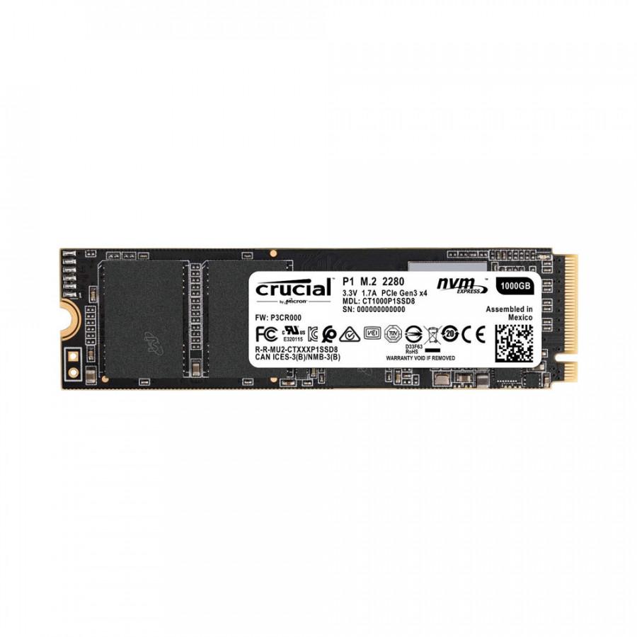 Ổ cứng SSD Crucial P1 1TB M.2 PCIe Gen3 x4 NVMe 3D-NAND QLC CT1000P1SSD8 - Hàng Chính Hãng - 1290009 , 9534351177919 , 62_13626613 , 4350000 , O-cung-SSD-Crucial-P1-1TB-M.2-PCIe-Gen3-x4-NVMe-3D-NAND-QLC-CT1000P1SSD8-Hang-Chinh-Hang-62_13626613 , tiki.vn , Ổ cứng SSD Crucial P1 1TB M.2 PCIe Gen3 x4 NVMe 3D-NAND QLC CT1000P1SSD8 - Hàng Chính H