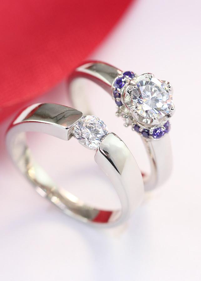Nhẫn đôi bạc nhẫn cặp bạc ND0294