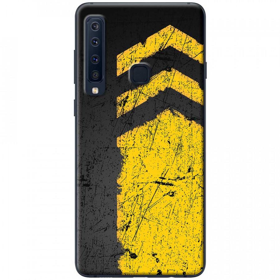 Ốp lưng dành cho Samsung Galaxy A9 (2018) mẫu Sọc vàng nền đen