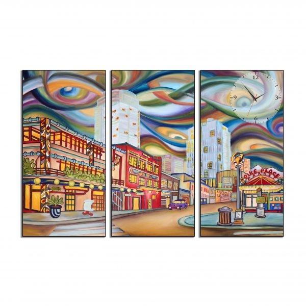 Tranh đồng hồ in Canvas Vần vũ nơi đô thị - 3 mảnh - 4765329 , 6893158083810 , 62_10361420 , 897500 , Tranh-dong-ho-in-Canvas-Van-vu-noi-do-thi-3-manh-62_10361420 , tiki.vn , Tranh đồng hồ in Canvas Vần vũ nơi đô thị - 3 mảnh
