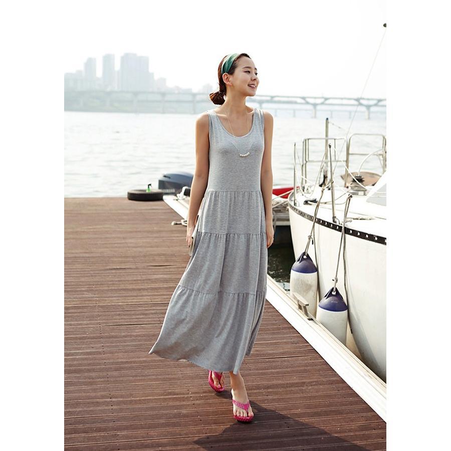 Đầm bầu nữ dáng suông dài freesize db16(xám)