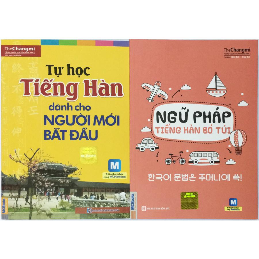 Combo Tự học tiếng Hàn ( tự học tiếng Hàn dành cho người mới bắt đầu + ngữ pháp tiếng Hàn bỏ túi) + Kèm 2...