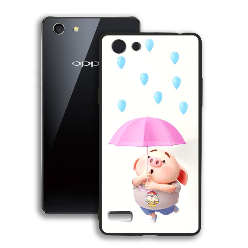 Ốp lưng viền TPU cho điện thoại Oppo Neo 7 - 02065 0523 PIG26 - Hàng Chính Hãng