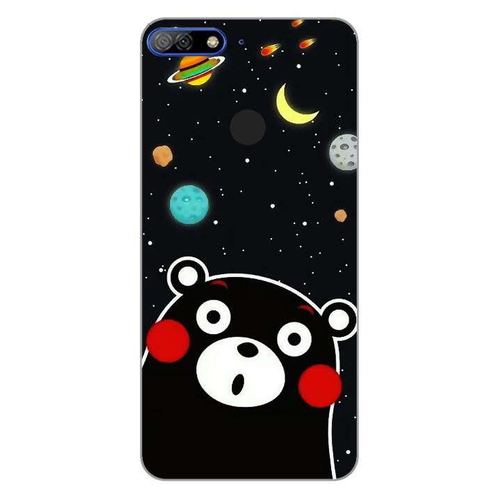 Ốp lưng dẻo Nettacase cho điện thoại Huawei Y7 Prime 2018_0345 BEAR03 - Hàng Chính Hãng