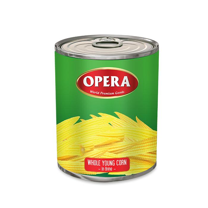 Bắp Bao Tử Nguyên Trái Đóng Hộp Opera
