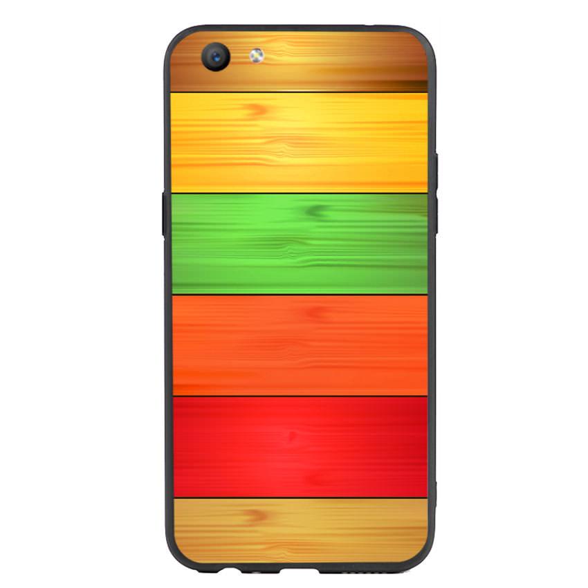 Ốp lưng nhựa cứng viền dẻo TPU cho điện thoại Oppo F3 - Sắc Màu
