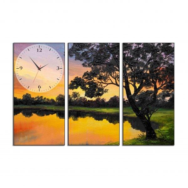 Tranh đồng hồ in Canvas Bình lặng - 3 mảnh - 4765241 , 4911605774882 , 62_10361241 , 707500 , Tranh-dong-ho-in-Canvas-Binh-lang-3-manh-62_10361241 , tiki.vn , Tranh đồng hồ in Canvas Bình lặng - 3 mảnh
