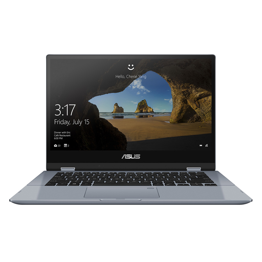 Laptop Asus Vivobook Flip 14 TP412UA-EC101T Core i3-7020U/Win10 (14.0 inch) (Grey) - Hàng Chính Hãng