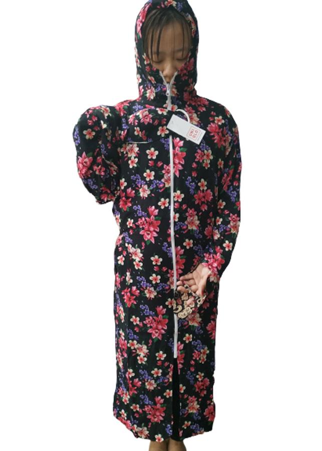 Áo chống nắng toàn thân vải lanh 2 lớp tặng kèm khẩu trang - giao màu ngẫu nhiên