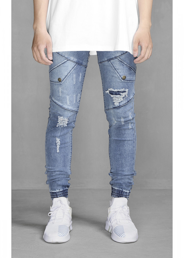 Quần Ripped Knee Jogger Jeans