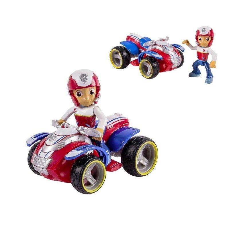 Bộ mô hình bé trai lái xe mô tô 4 bánh