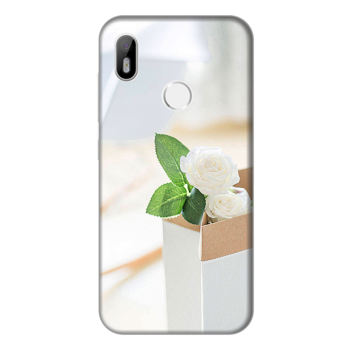 Ốp lưng điện thoại Vsmart Joy 1 hình Chậu hoa Cúc Trắng - Hàng chính hãng