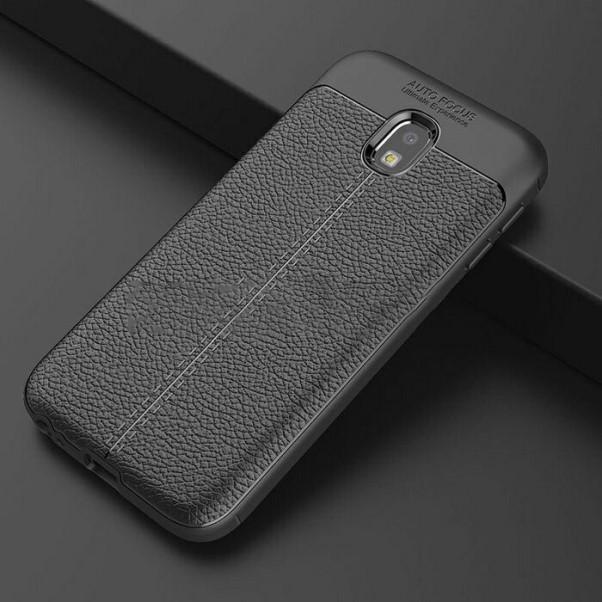 Ốp Lưng cao cấp Auto Focus Vân da cho điện thoại SAMSUNG J3 Pro - Hàng chính hãng (Màu Đen)