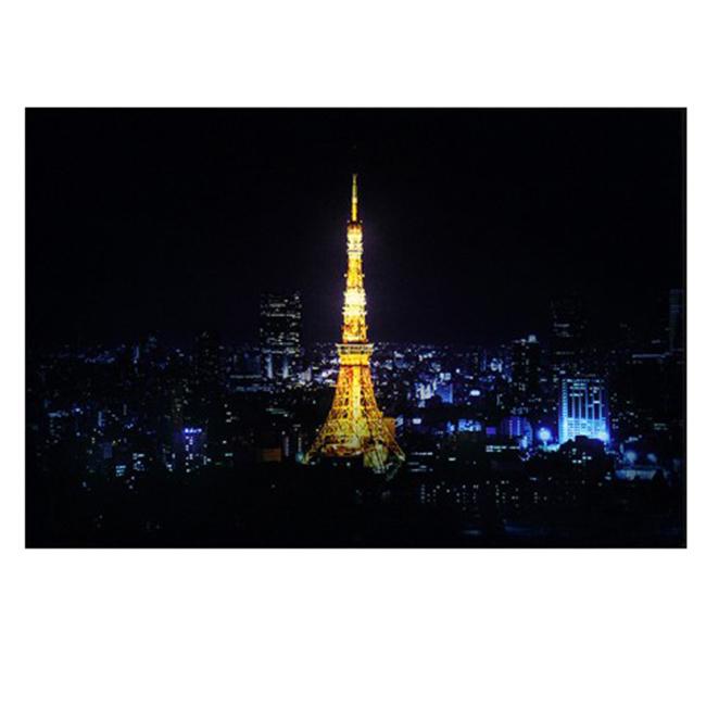 Tranh vải canvas đèn led - Tháp Tokyo về đêm