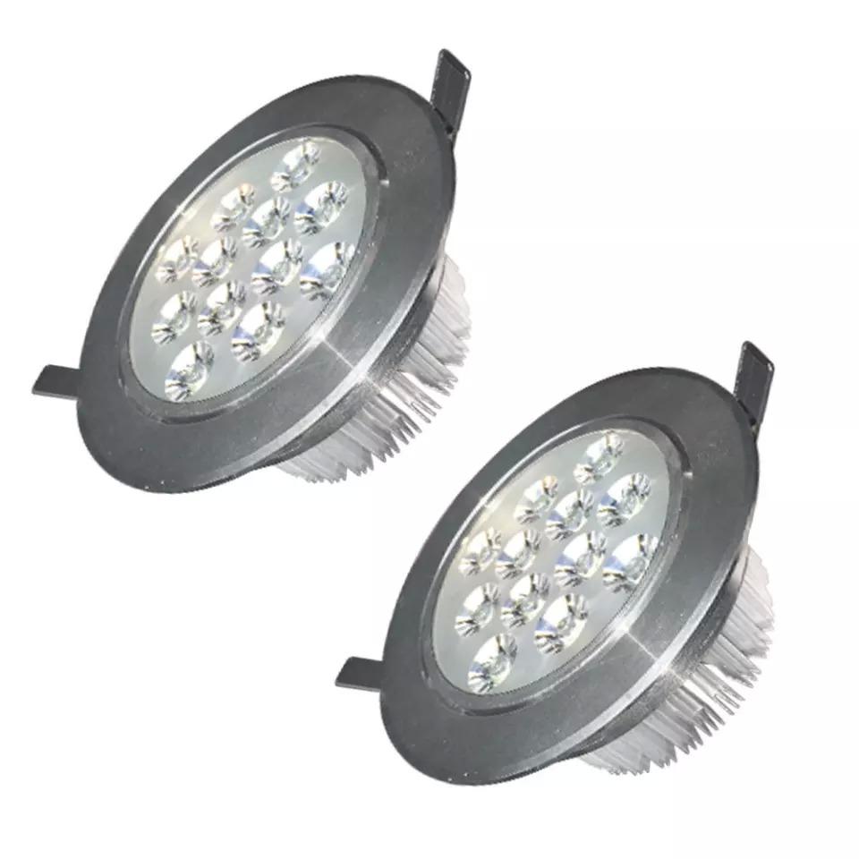 Bộ 2 cái đèn LED âm trần chiếu rọi Gnesco 12W (sáng trắng)