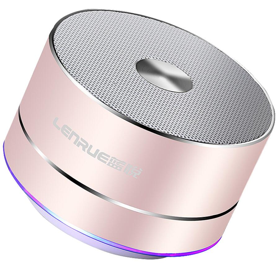 Loa Bluetooth Mini Không Dây LENRUE A2 - Hồng Vàng