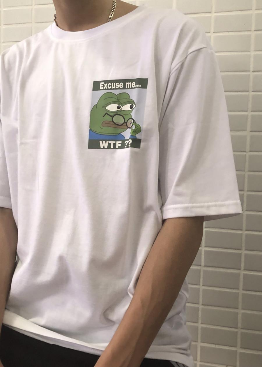 Áo thun unisex con ếch xanh