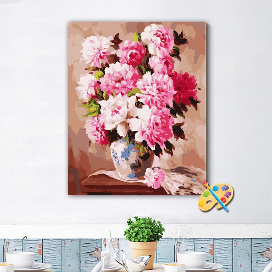 Tranh sơn dầu số hóa hoa ngọt ngào 225