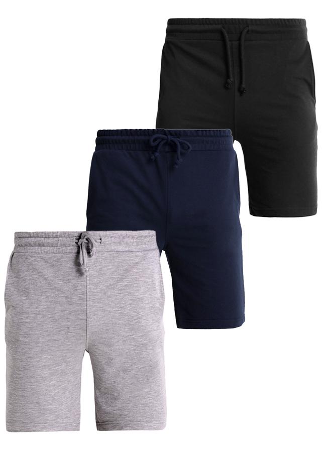 Bộ 3 Quần short GYM thể thao nam PiGo cao cấp ZQN01 (Xám, đen, xanh đen)