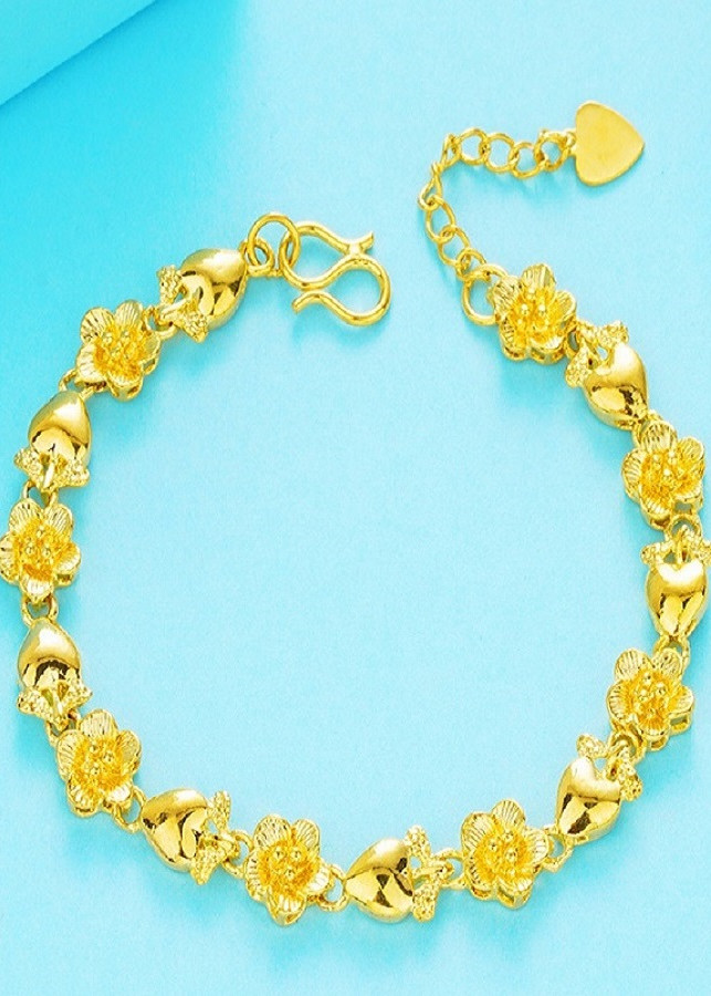 Vòng tay nữ, vòng tay mạ vàng 24k 09