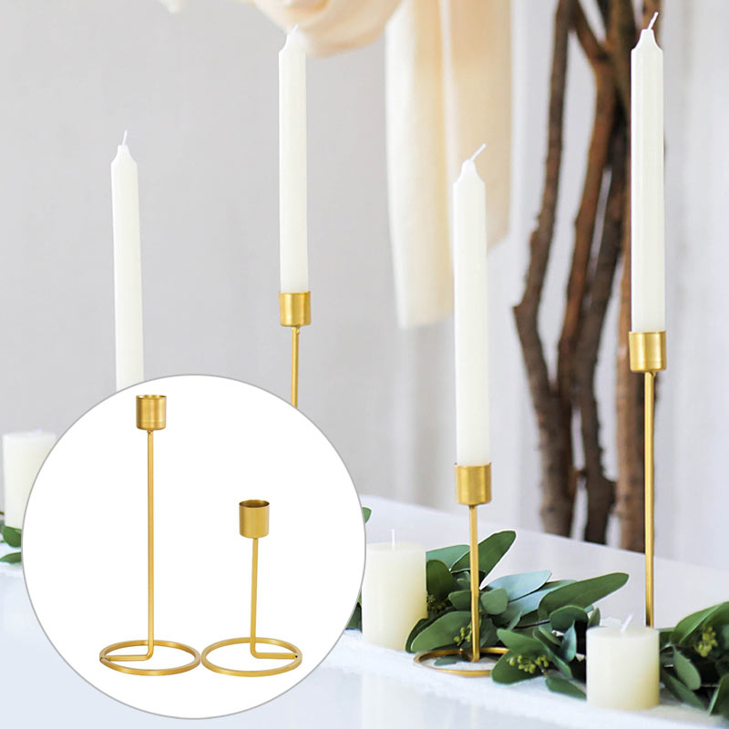 Candle Holder Candelabrum European Iron Golden Lamp Single-Head