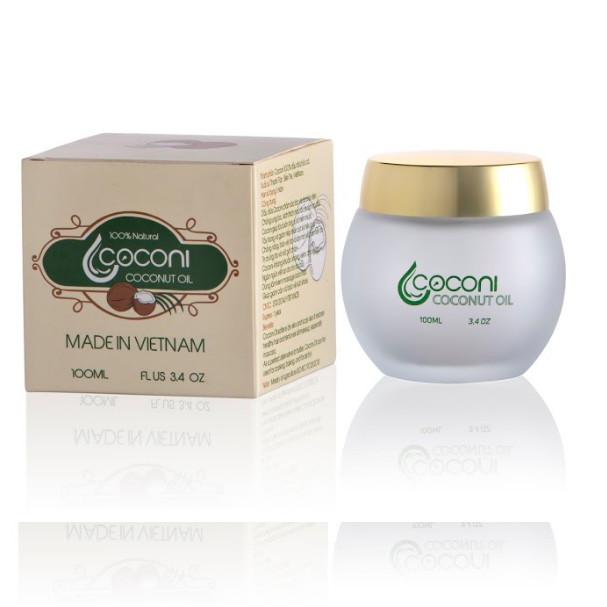 Tinh dầu dừa Coconi 100ml 100% dầu dừa hữu cơ nguyên chất - Chai 100ml (Bản đặc biệt)